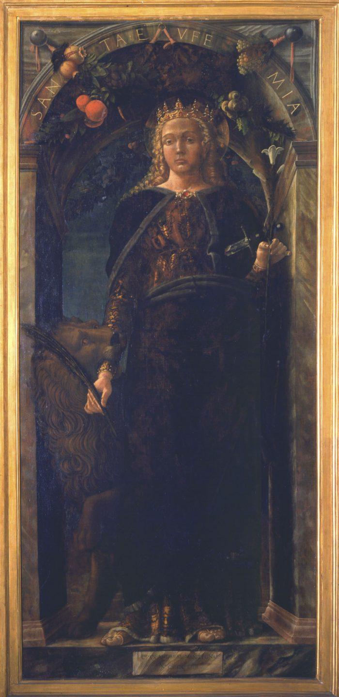 Cattedrale di Irsina - Donazione De Mabilia. Tela raffigurante Sant'Eufemia del Mantegna conservata al museo di Capodimonte