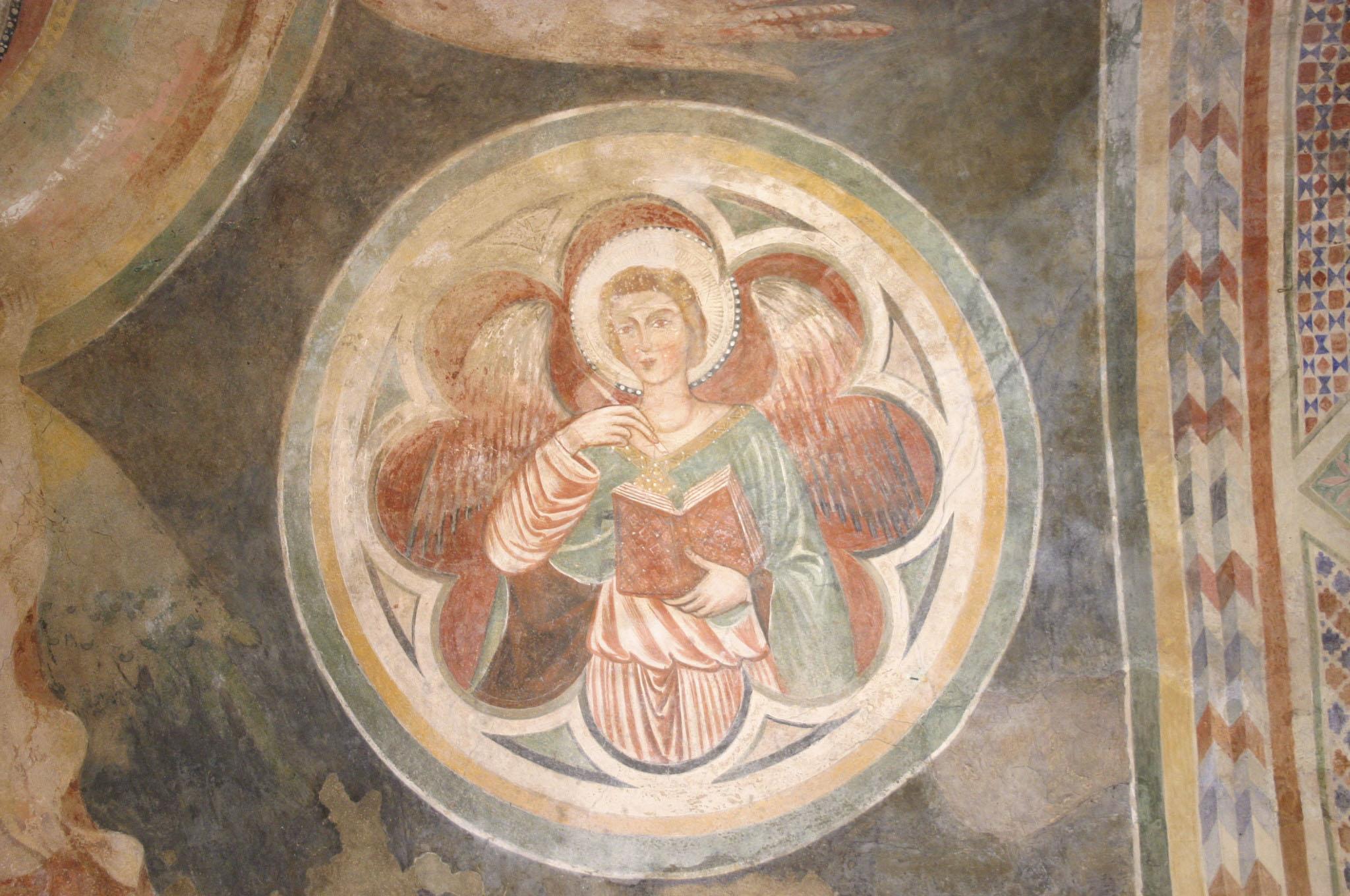 Affreschi nella cripta di San Francesco - San Matteo. 1370-73