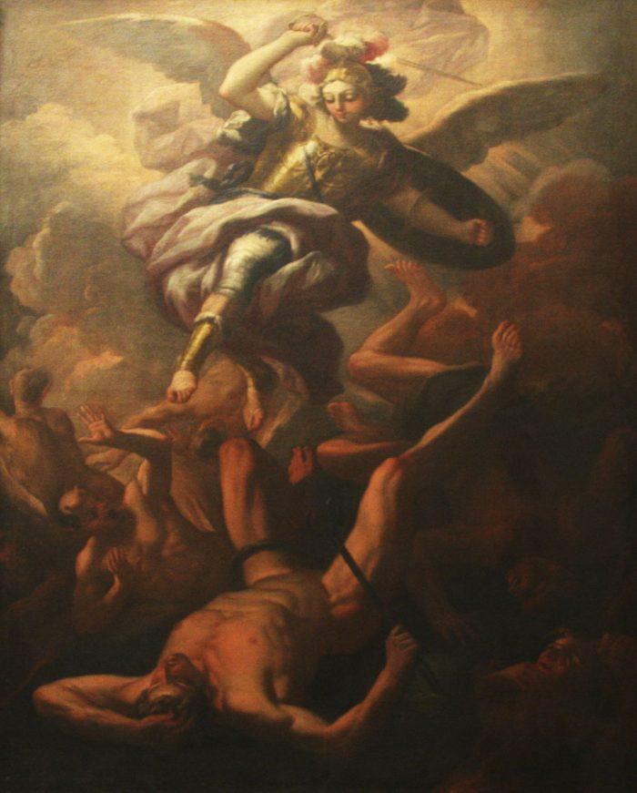 Dipinti di scuola napoletana - Andrea Miglionico. San Michele. Chiesa della Madonna del Carmine. Olio su tela. 1704-06