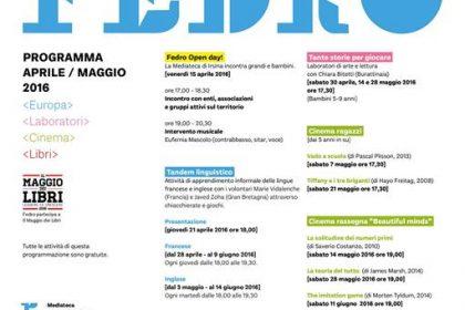 FEDRO - programma attività aprile / maggio 2016