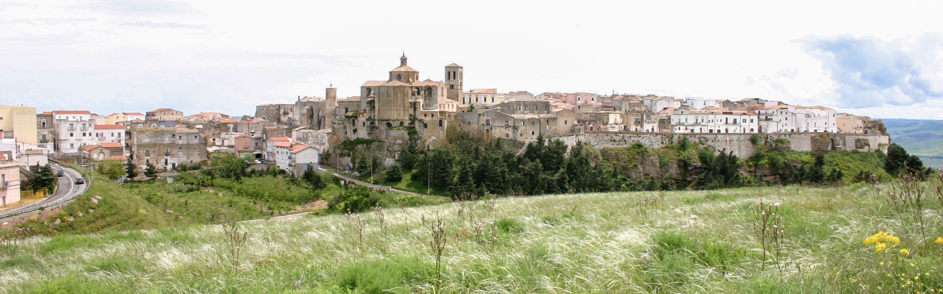 Panoramica della città di Irsina